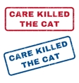 Care Killed The Cat Rubber Stamps vector image vector image