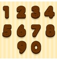 Cartoon Chocolate cookie font biskvit figures vector image vector image