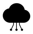 cloud technology icon with circuit pattern vector image vector image