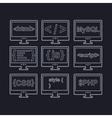 collection of web development icons - html css tag vector image vector image