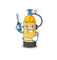 cool automotive oxygen cylinder in cartoon