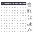 customer relationship management line icons signs vector image vector image
