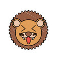 cute lion drawing animal vector image vector image