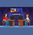 cybersport cartoon characters composition vector image vector image