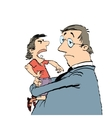 Dad and a spoiled child vector image vector image