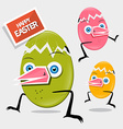 Easter Funny Eggs vector image