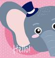 elephant cute animal cartoon vector image vector image