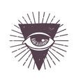esoteric eye rune symbol vector image vector image