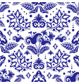 ethnic tatar blue ornament seamless pattern vector image vector image