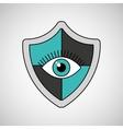 eye surveillance protection shield vector image vector image
