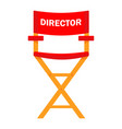 film director red chair work on set the vector image vector image