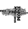 find people free uk text background word cloud vector image vector image