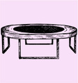 fitness trampolin vector image vector image