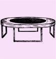 Fitness trampolin vector image