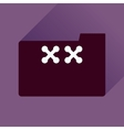 Flat icon with long shadow folder crosses vector image vector image