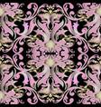 floral baroque damask seamless pattern vintage vector image vector image