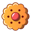 flower biscuit icon cartoon style vector image vector image
