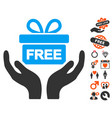 give present icon with lovely bonus vector image