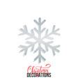 glitter snowflake christmas decoration element vector image