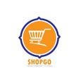 go shop logo vector image vector image