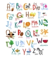 Hand drawn kids alphabet vector image vector image