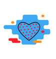 heart icon with polka dots trendy modern concep vector image vector image