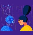 human vs artificial intelligence concept trendy vector image vector image