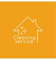 Icon cleaning services vector image vector image