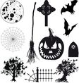 Icons Halloween Set vector image