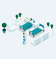 isometry cabinet hospital front view vector image vector image