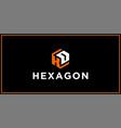 kd hexagon logo design inspiration vector image vector image