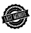 Last minute stamp vector image vector image