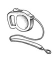 leash accessory for domestic dog monochrome vector image vector image