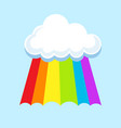 lgbt rainbow in clouds symbol icon vector image vector image