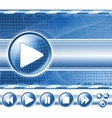 multimedia player controls vector image vector image