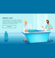 operative medical care sick patient vector image