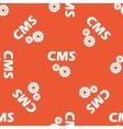 Orange CMS settings pattern vector image vector image
