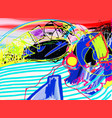 original digital painting abstraction vector image vector image