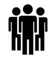 people peace group icon simple style vector image