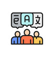 people with chat bubbles foreign language vector image