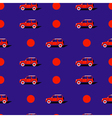 Pop art pattern with car vector image vector image