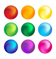rainbow color ball threedimensional set design vector image vector image