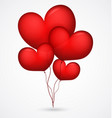 red balloon heart shape vector image