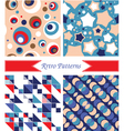 retro patterns vector image vector image