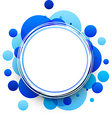 Round blue background vector image vector image