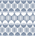 Seamless geometric pattern in grey vector image vector image