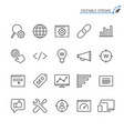 search engine optimization line icons editable vector image