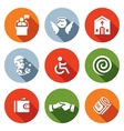 Set of Church and Faith Icons Pastor vector image vector image