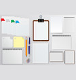 set of stationery paper notepads vector image vector image