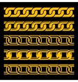 set seamless gold chains template isolated on vector image